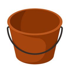 Plastic and bucket sign vector