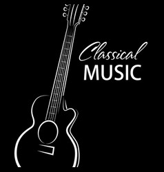 poster for a concert of classical music wi vector image