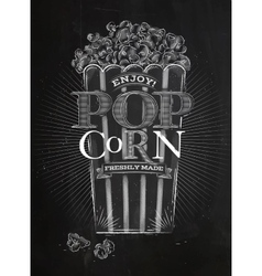 Poster popcorn chalk vector image