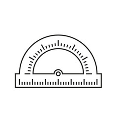 Protractor school icon vector
