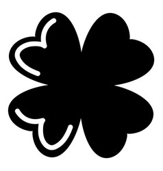 quatrefoil leaf icon simple black style vector image