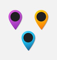 Realistic color pointer icon vector