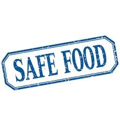 Safe food square blue grunge vintage isolated vector