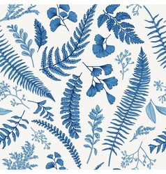 Seamless floral pattern in vintage style Leaves an vector image