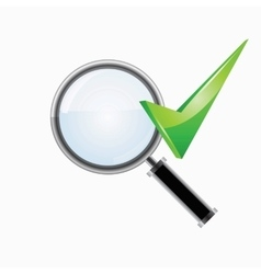 Search and checkmark vector
