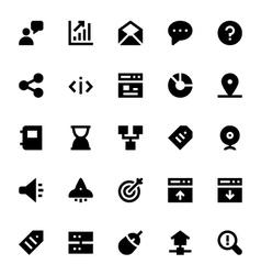 SEO Web Optimization Icons 3 vector image