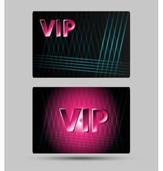Set of abstract Vip members only cards vector
