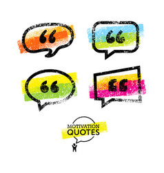 Set of quote bubbles templates bright vector