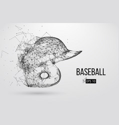 Silhouette of a baseball helmet vector