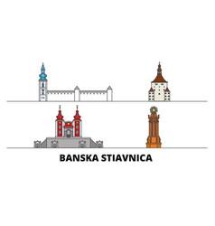 Slovakia banska stiavnica flat landmarks vector