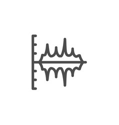 Sound graph line icon vector