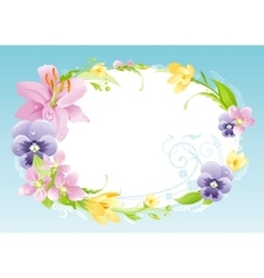 Spring blue background Easter Mothers day vector image