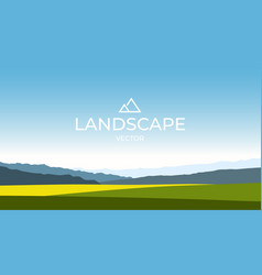 summer fields landscape green hills bright color vector image