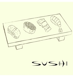 Sushi sketches vector image