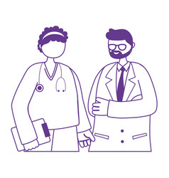 thanks doctors nurses male physician nurse vector image