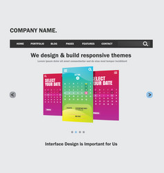 ui design website template for business vector image