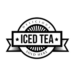 Vintage Iced Tea sign or logo vector