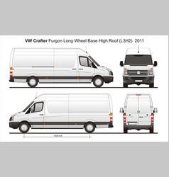 Volkswagen crafter delivery van l3h2 2011 vector