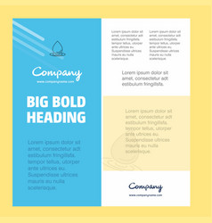 water drop business company poster template with vector image