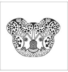 Zentangle stylized koala head vector