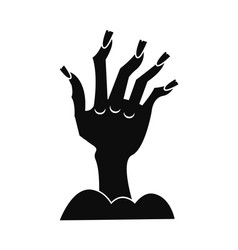 zombie hand icon simple style vector image