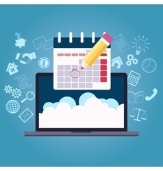 business planning calendar vector image vector image