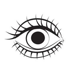 cartoon image of eye vector image