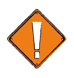 drawing warning alert attention sign icon vector image