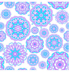 seamless pattern made from abstract mandalas vector image vector image