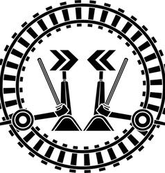 Switch arrows railway vector image