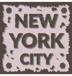 T shirt typography graphic New York city Grunge vector image vector image
