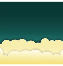 abstract clouds on dark background vector image vector image