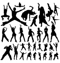 dancing and party people vector image vector image