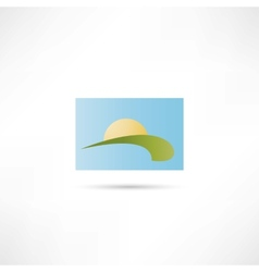 eco home icon vector image vector image