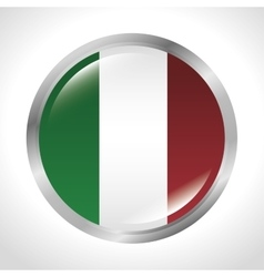 italy flag isolated icon vector image