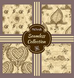set of seamless textures with ornaments vector image