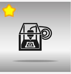 3d printer black icon button logo symbol vector image vector image