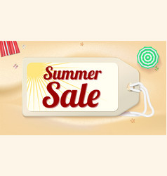 advertising banner sales with typography summer vector image