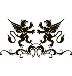 Background heraldry decoration vector image