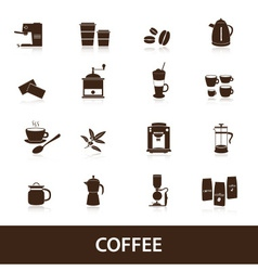 coffee icons set eps10 vector image vector image
