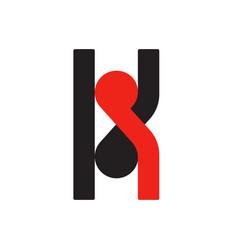 k k logo logotype - english font upper case letter vector image