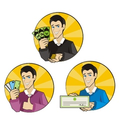 Payment man 01 vector image vector image
