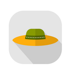 sun hat protective clothing flat icon object of vector image