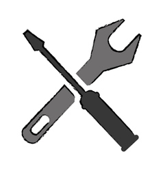 drawing support repair tools sign icon vector image