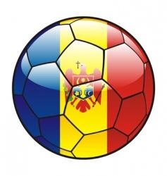moldova flag on soccer ball vector image vector image