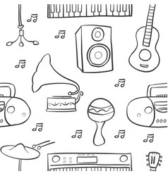 music element various doodle style vector image vector image