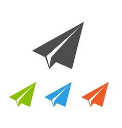 Paper airplane flat icons vector image