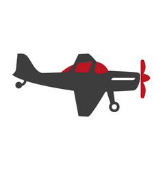Plane silhouette isolated on white flat vector