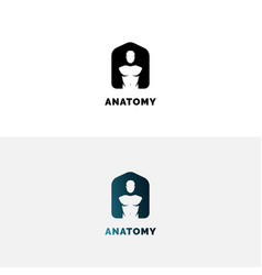 Anatomy logo with human torso vector