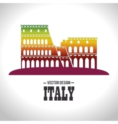 Architecture italian culture isolated vector